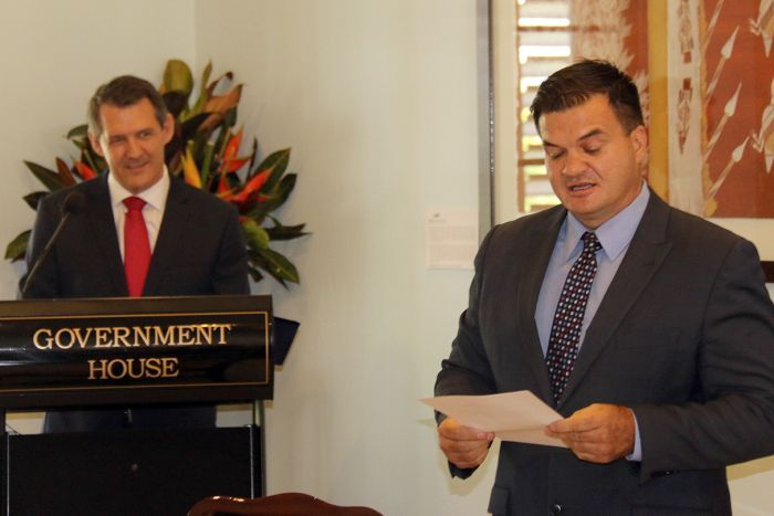 Primary Industry and Resources Minister Ken Vowles is sworn in