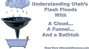 Utah flash flooding - what does a bathtub have to do with anything? Copyright image by Decoded Science, all rights reserved.