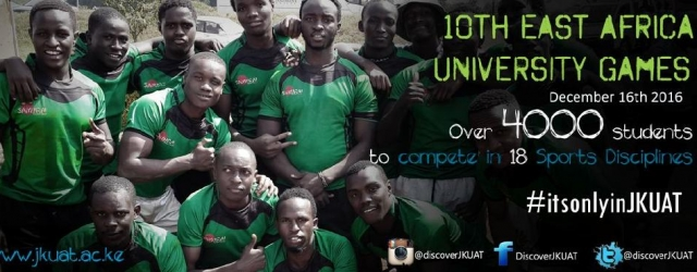 JKUAT will host the 10th Eastern Africa University Games from December 16-21, 2016