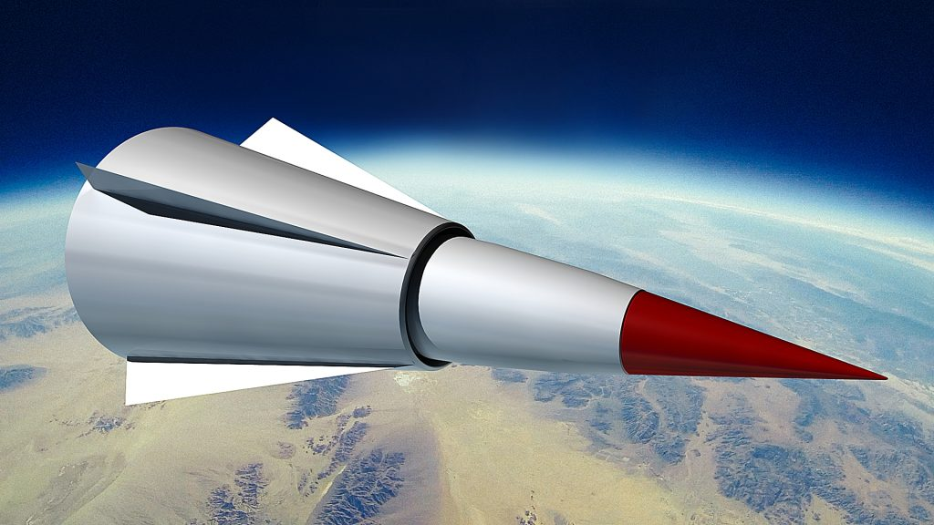 Artist's conception of Chinese WU-14 hypersonic glide vehicle