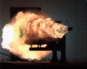 US Navy railgun test