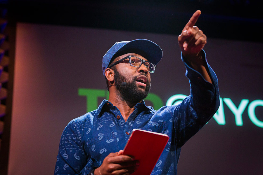Baratunde Thurston closes out the night with hilarious observations. Photo: Ryan Lash