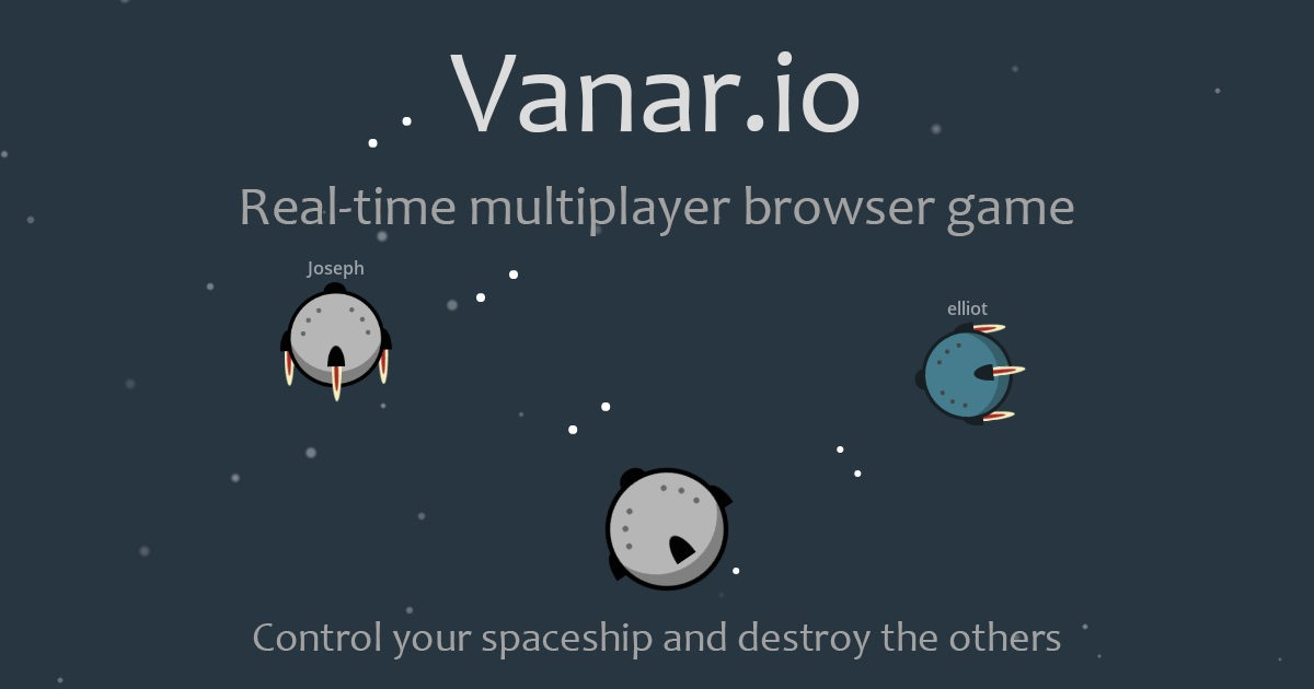 Realtime multiplayer game, be commander your ship and destroy the others