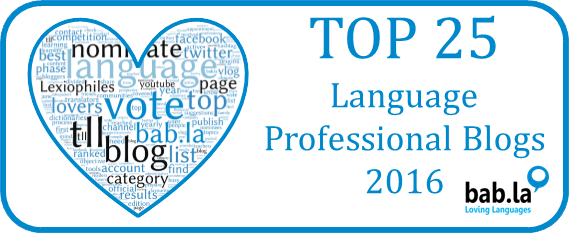 Top 25 Language Professional Blogs 2016