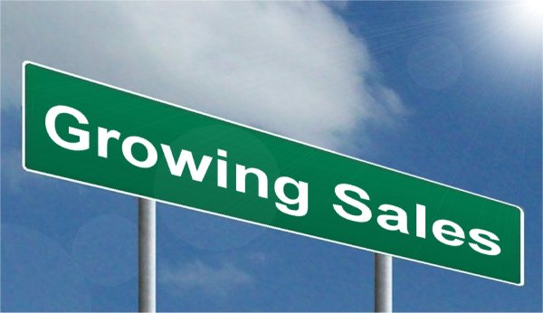 Growing Sales sign