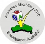 Boardgames Australia Short List 2010