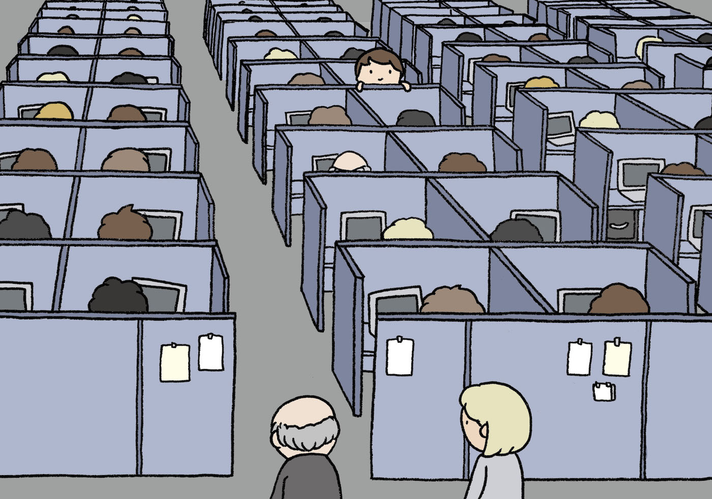 The Society of the Spectacle_Work cubicles_Lauren Purje
