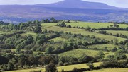 Distant view of Cuilcagh Mountain, Co. Fermanagh, Northern Ireland