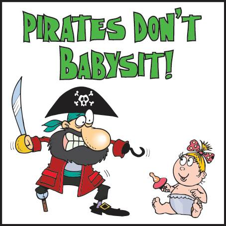 Picture of a pirate and a baby