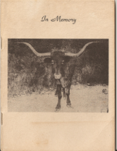 In Memory - Cherokee Strip Live Stock Association Brand Book