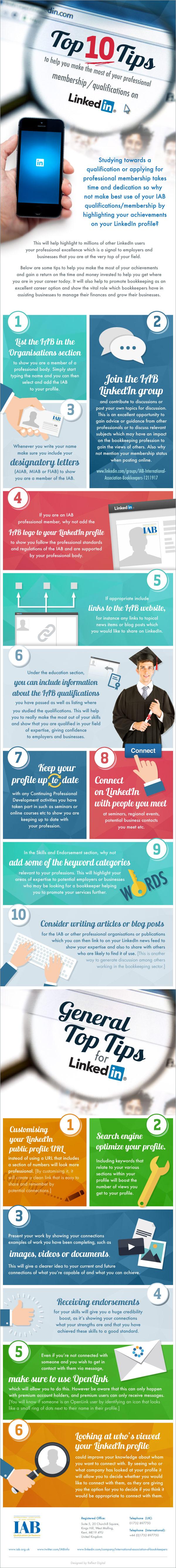 LinkedIn Tips infographic