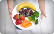 plate of fruit and veggies