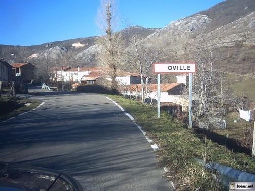 comienzo del pueblo de Oville