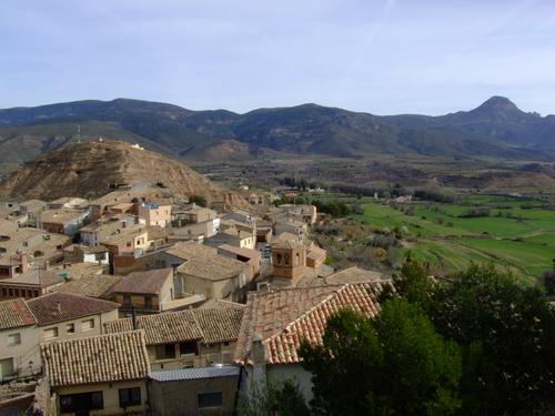 Vista de Bolea desde la Colegiata.