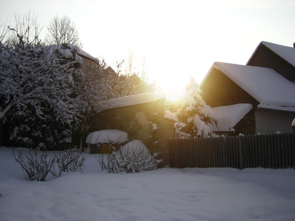 Chalupa v zime