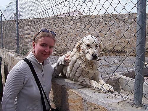 yo con el perro guardian más cariñoso que existe