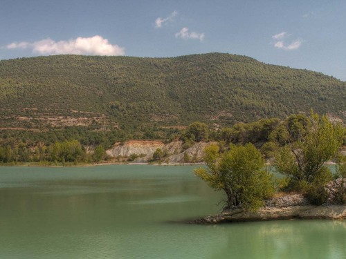 Stausee bei Riglos