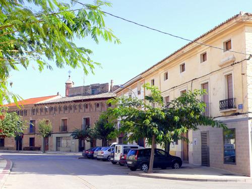 Arguedas: casas Muruzábal y Arregui en la Calle Real