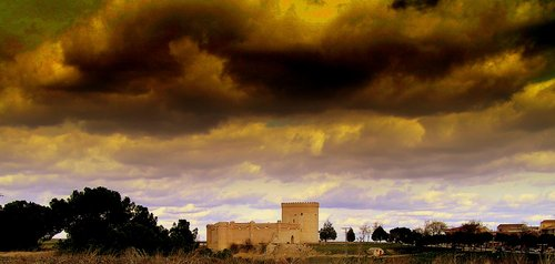 Arevalo castle in a cloudy afernoon