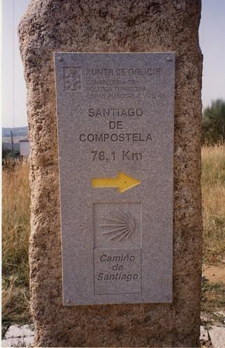 Secondo giorno di cammino a piedi - Da Portomarin a Palas de Rei - Km. 23,8 - Count down Km. 78,1 a Santiago -  7/8/2005