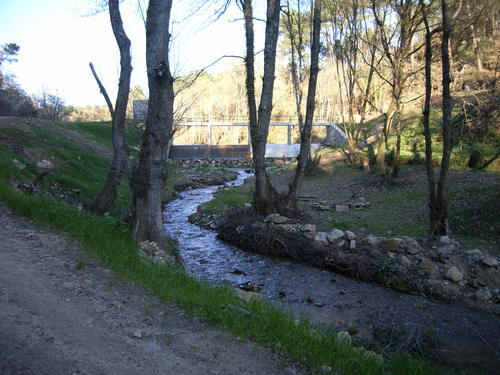 Encoro no río da Barra