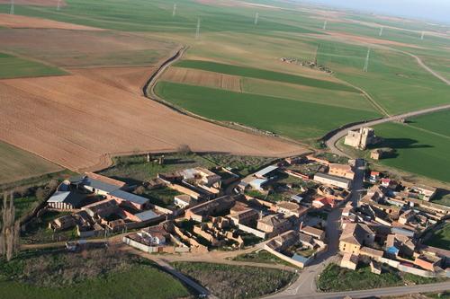Vista aérea de Villaesper, pedanía de Villabrágima