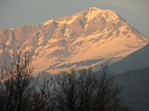 Montsent de Pallars en un atardecer de invierno, desde la Torre de Capdella. 11Feb2006