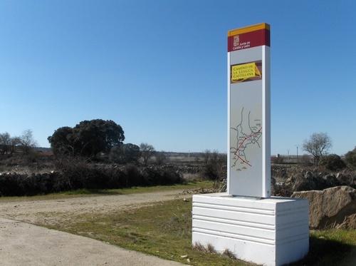 Cartel en Peralejos de Abajo (Salamanca)