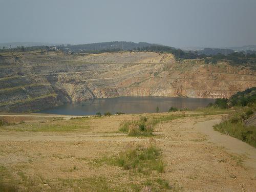 Mina de Reocín inundada de agua