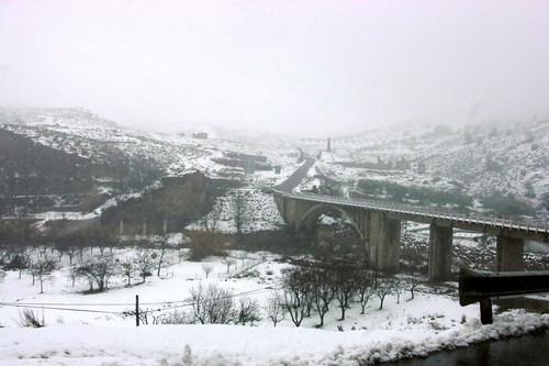 Rio Andarax, puente y cruce de Benecid