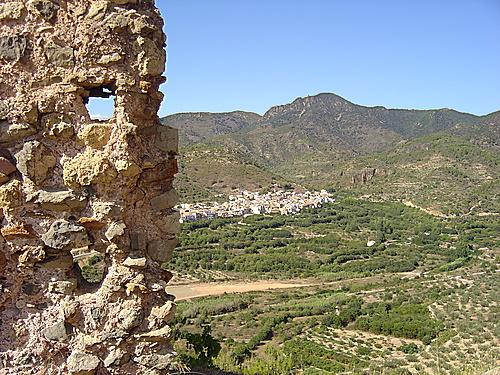 Algimia de Almonacid desde el castillo de Almonecir