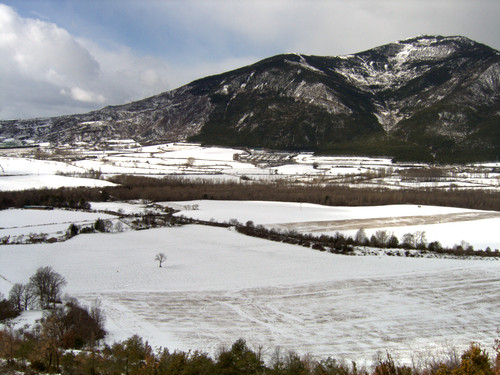 Snow landscape in the Spanish Pyrenees, Spring 2008