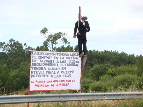 Cartel curioso de una boda, Argüero, Asturias