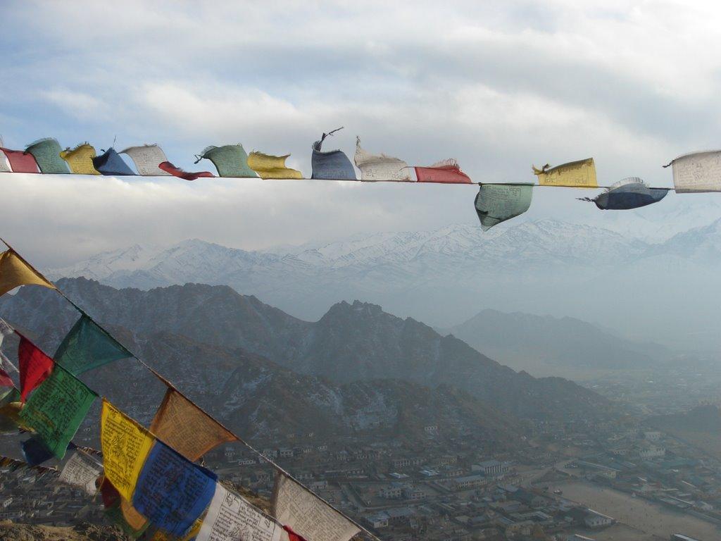 Prayer flag in Leh - India