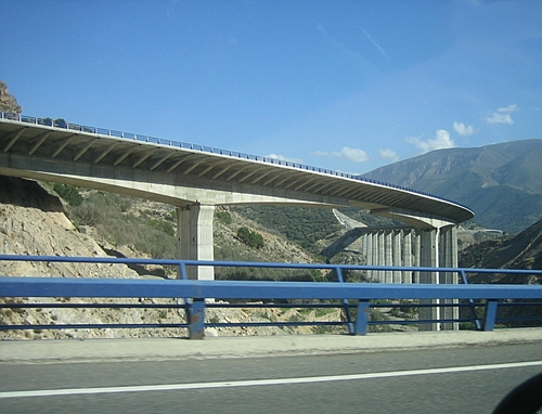 Art and Ingenuity! The viaduct for northbound traffic on the new Autovia de Sierra Nevada
