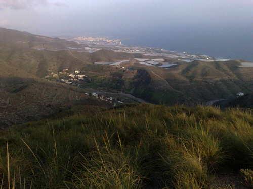 Vista de Adra desde Barranco Guainos