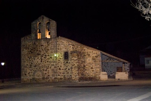 Vista nocturna Iglesia Ojos Albos