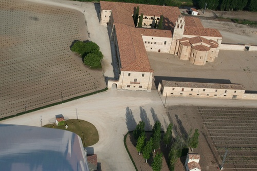 Vista aérea de la Abadia Retuerta en Sardón de Duero