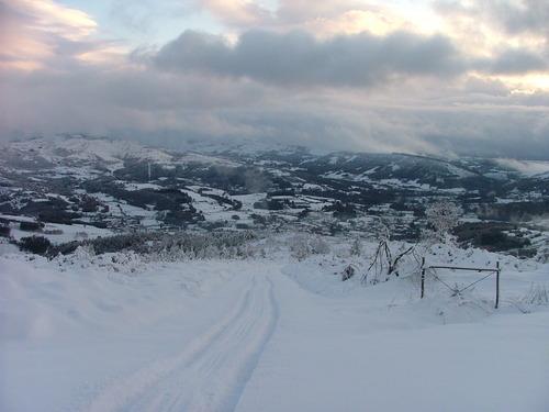 Vistas de Baralla con nieve