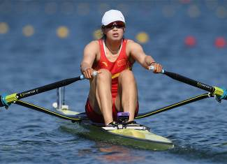 Duan, Jingli - Rowing - China - Women's Single Sculls - Women's Single Sculls Heat 1 - LAG - Lagoa Stadium