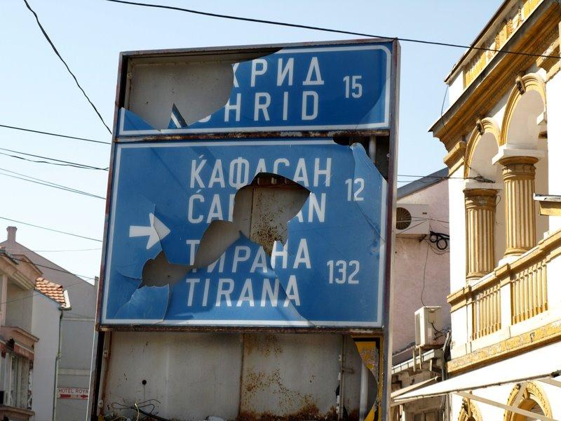 The signpost, Struga