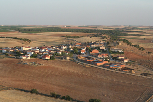 Vista aérea de Foncastín, en el término de Rueda