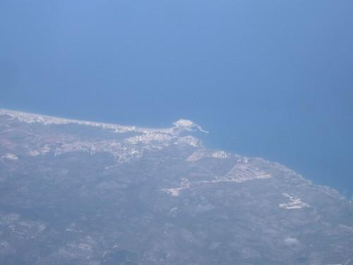 Peñiscola a vista de Air-Nostrum