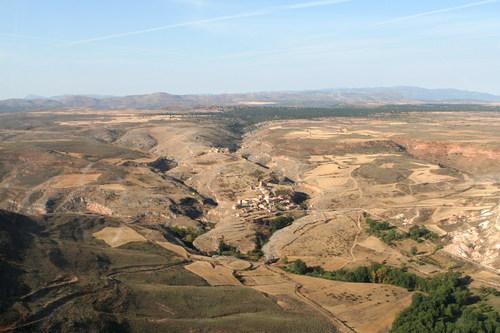 Foto aérea de Caracena y su castillo