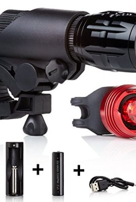 Bike-Lights-LED-by-Camden-Gear-VIVID-XIII-Light-200-Lumens-Bright-Easy-to-Fit-LED-Bicycle-Lights-Front-and-Back-0