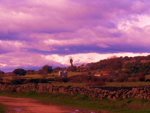 Esos campos,Gredos nevado