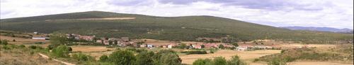 Panorámica de Barcina de los Montes desde la Sierra.