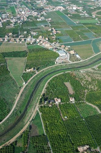 La huerta de Murcia y el Rio Segura