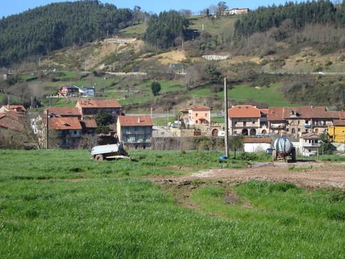 Vista general del pueblo de Riocorvo. JX3.