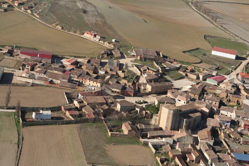 Vista aérea del municipio de Castrillo-Matajudíos